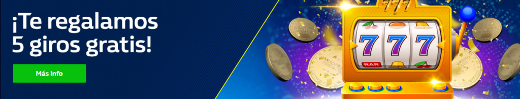 5 giros gratis en William hill