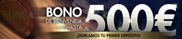Bono de bienvenida de hasta 500€ con Sportium