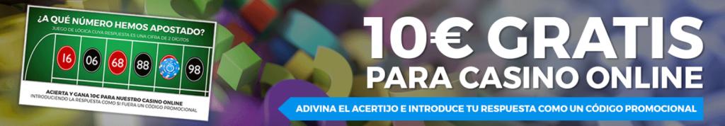 10€ gratis para jugar en el casino online de pastón