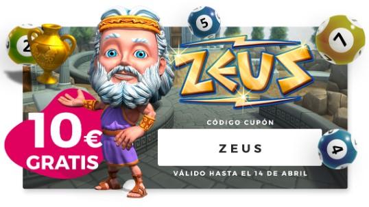 10€ gratis para probar el nuevo vídeo bingo Zeus en Casino Gran Madrid
