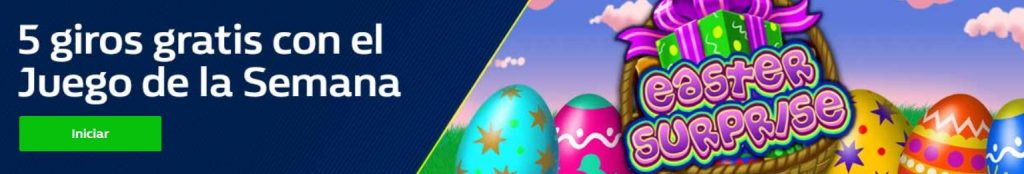 5 giros gratis para Easter Surpirse en William Hill