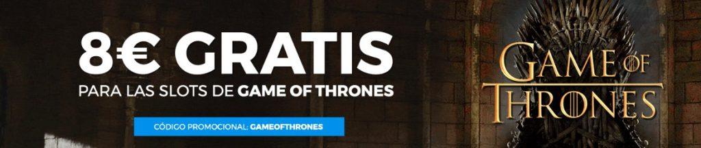 8€ gratis para Game of Thrones en Pastón
