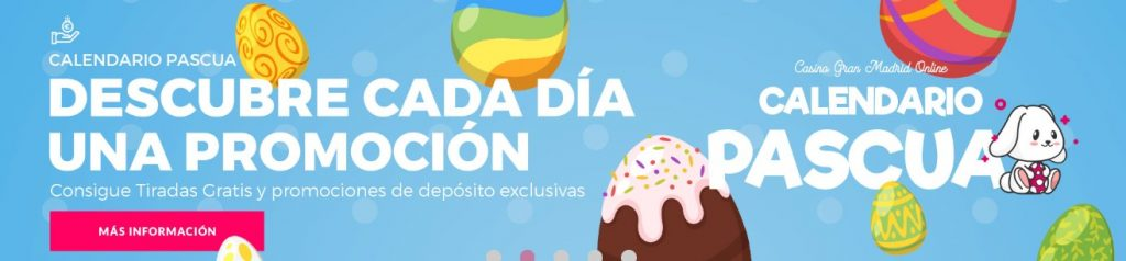 Calendario de Pascua en Casino Gran Madrid